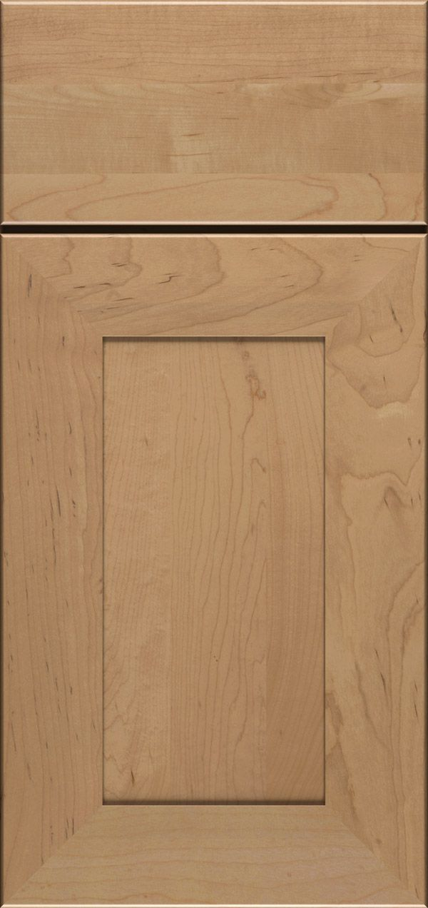 Cayhill cherry reversed raised panel cabinet door in nutmeg with