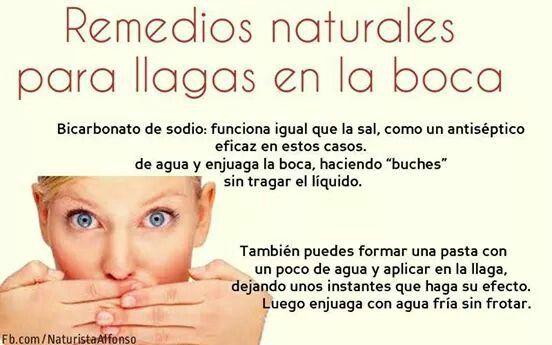 Remedios naturales para llagas en la boca
