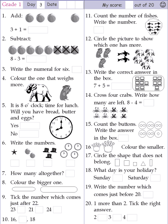 Mental Math Grade 1 Day 3 School Stuff Pinterest Mental Maths