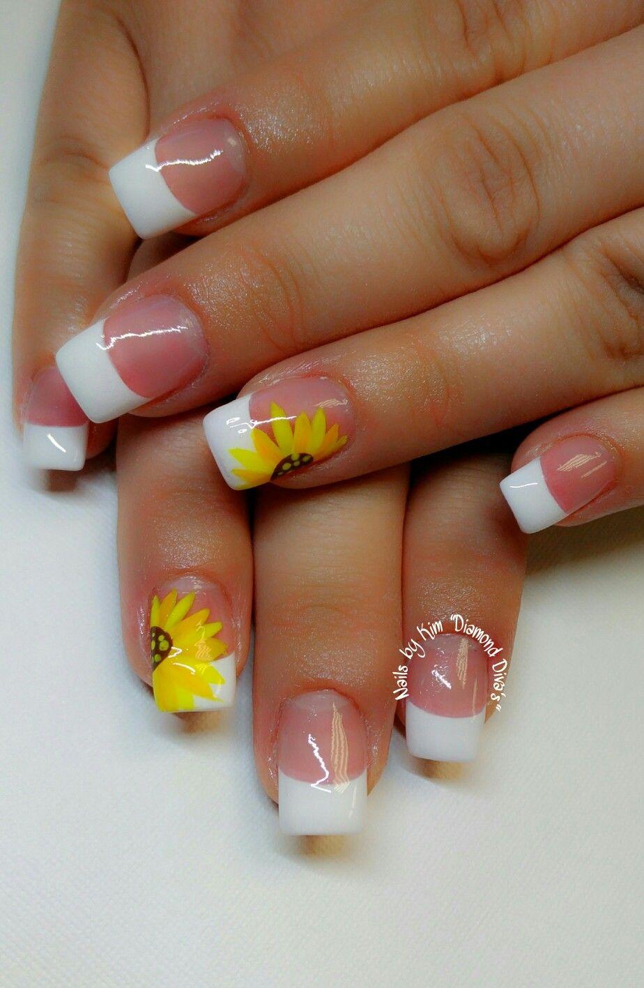 Sunflower Nails In 2019 Bride