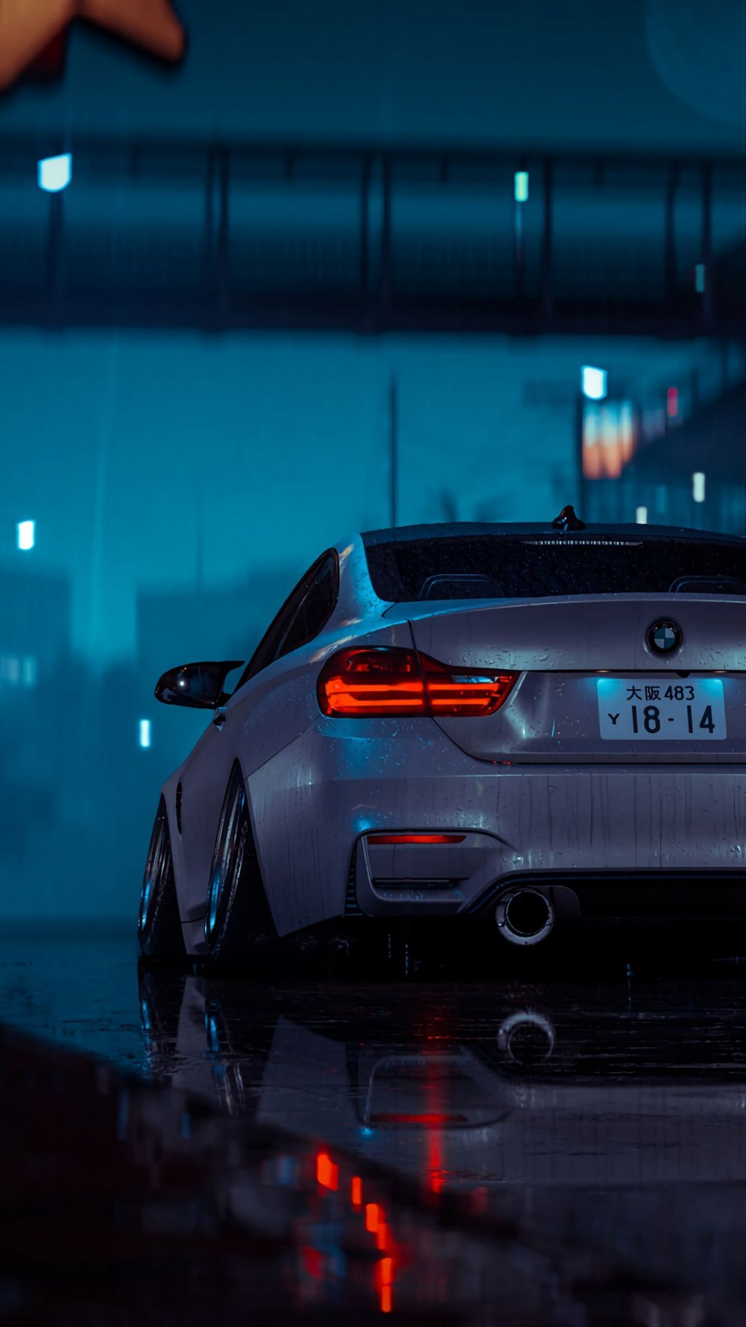 1080x1920 Artwork Car Rear View Gray Wet Wallpaper Street Racing Cars Bmw Wallpapers Car Wallpapers