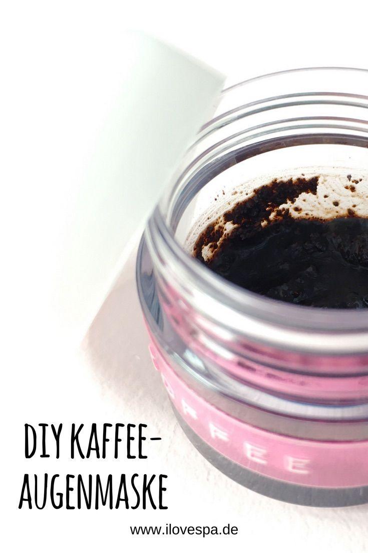 kaffee augenmaske selber machen gegen augenringe schwellungen peelings diy pinterest. Black Bedroom Furniture Sets. Home Design Ideas