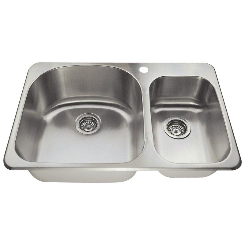 Stainless Steel 31 X 21 Double Basin Drop In Kitchen Sink