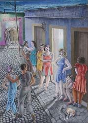 La Calle de Cuauhtemotzin (1941) by Emilio Bas Viaud (tendreams)