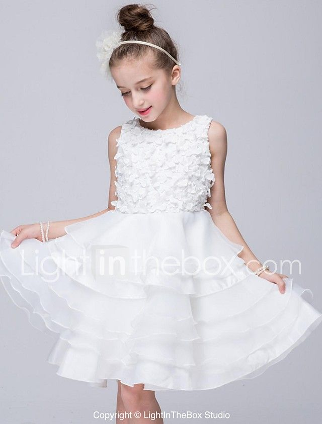 ... Vestiti Da  vestito dalla ragazza di fiore di lunghezza del ginocchio dell  abito di sfera - collo ef3c96d0c65da1c ... 014eea3e7d6