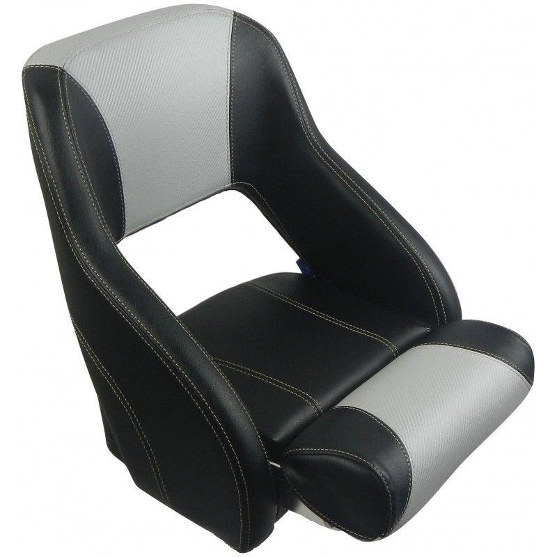 Bootssitz schwarz hellgrau carbon, flipup neckar Grau
