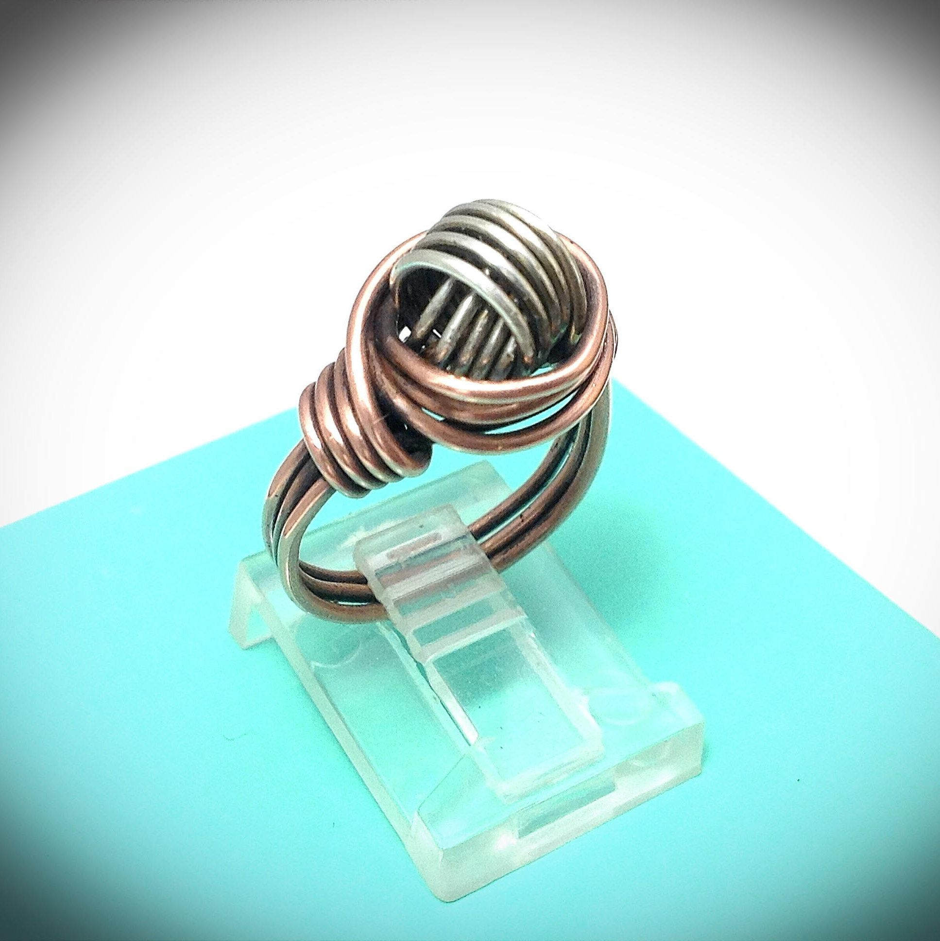 Wire ring. Wire jewelry. Celtic knot wire wrapped ring. Handcrafted ...