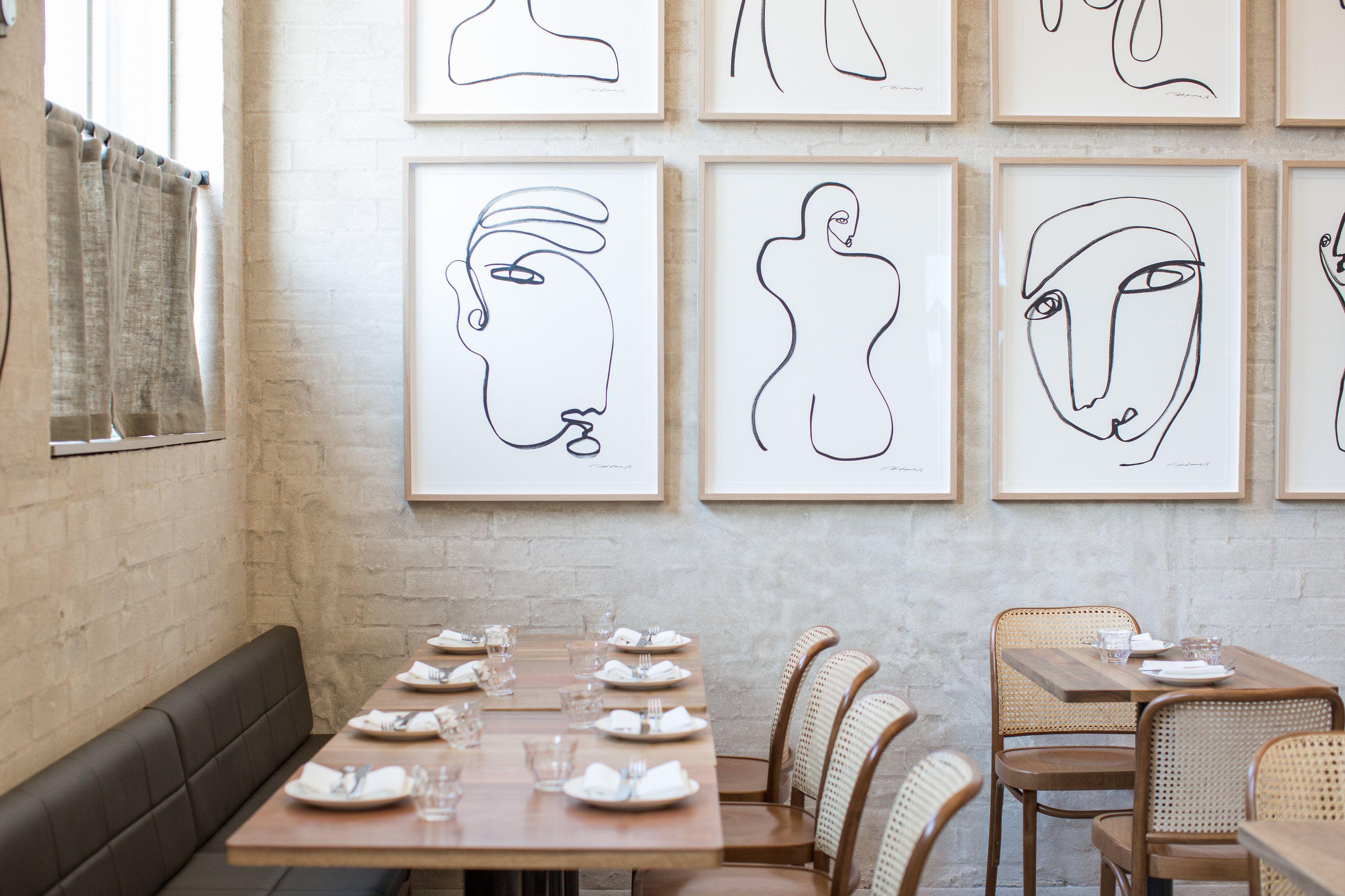 Sydney restaurant Paddington Inn with the work of Christiane