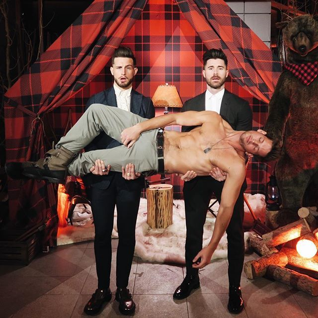 Max Emerson partied a little too hard, but Nico Tortorella and Kyle Krieger were there at the rescue. @kylekriegerhair @maxisms @logotv #nnnhonors