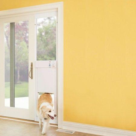 The High Tech Dog Door Sliding Glass Door Is An Electronic Sliding