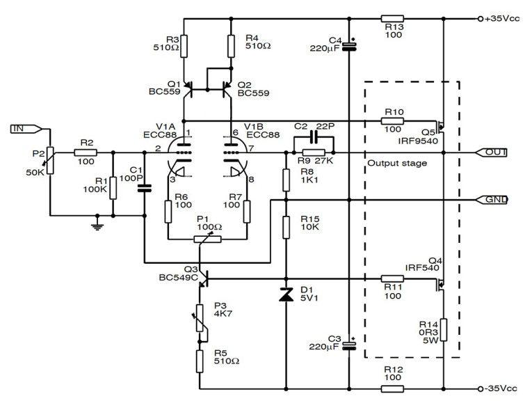 build a hybrid tube mosfet se amp hifi pinterest rh pinterest com