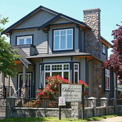 Dark grey exterior black trim white windows | Exterior  #Home #Decor #House #Exterior #greyexteriorhousecolors