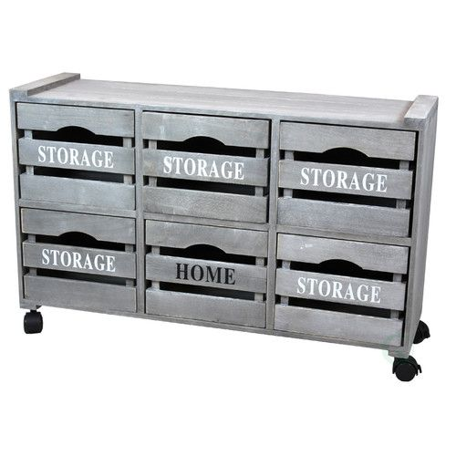6 Drawer Accent Chest #graycabinets