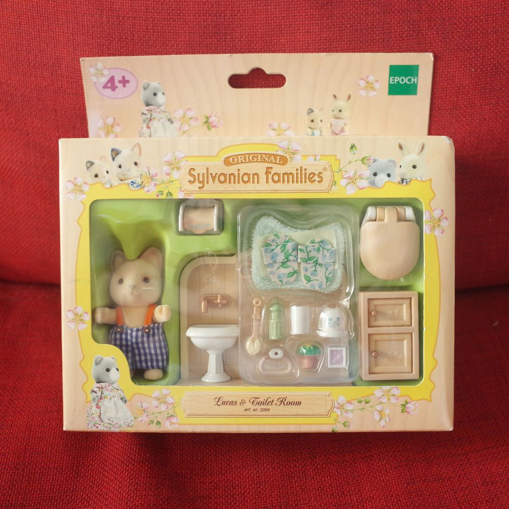 Sylvanian Families LUCAS & TOILET ROOM Whiskers Spotted