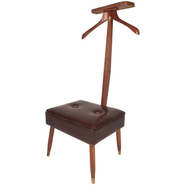 Mid Century Modern Valet Chair Recycled Plastic Adirondack