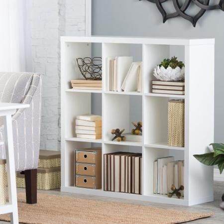 Hudson 9 Cube Bookcase White Cube bookcase, Cubicle