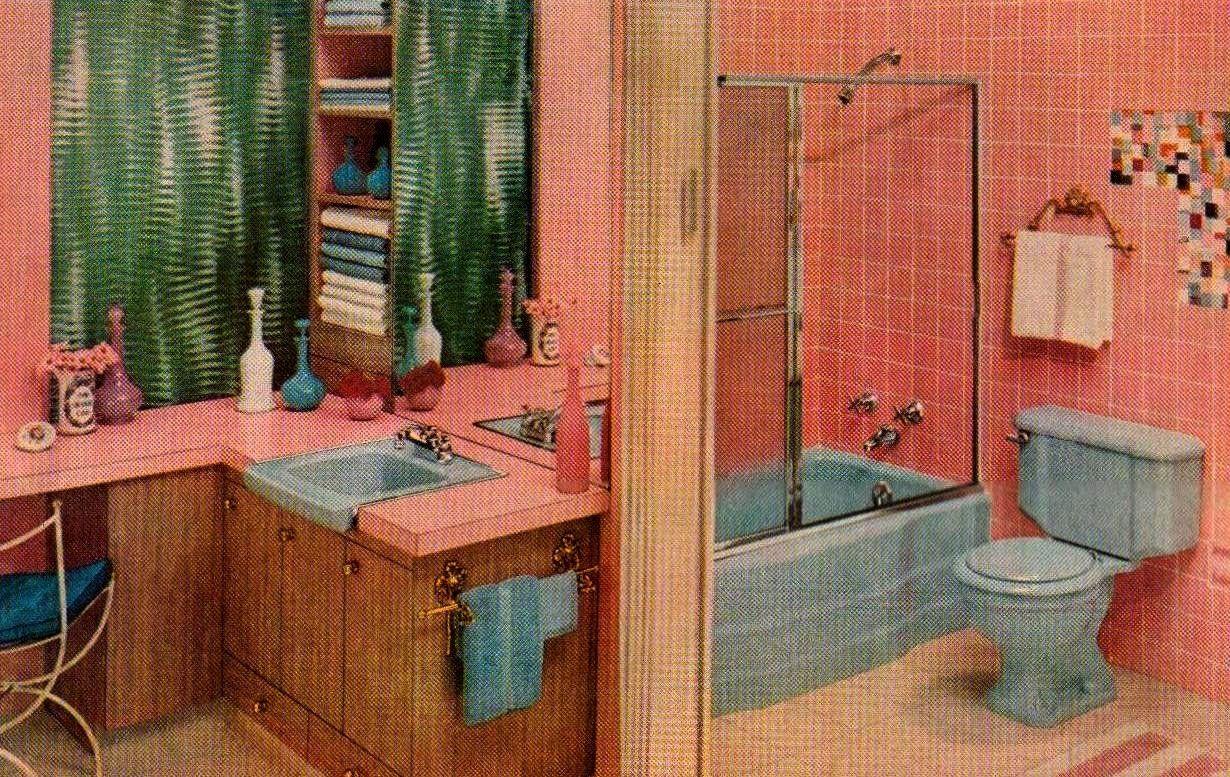 1000 Images About Bagno Vintage On Pinterest   Pink Bathrooms. Pink And Blue Bathroom Accessories   gerryt com