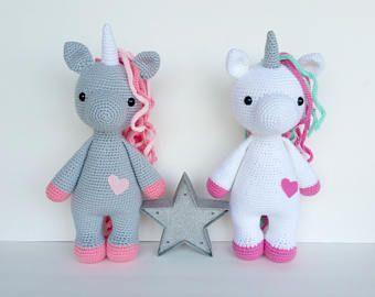 Amigurumi Unicorn : A sweet unicorn pdf crochet toy pattern amigurumi