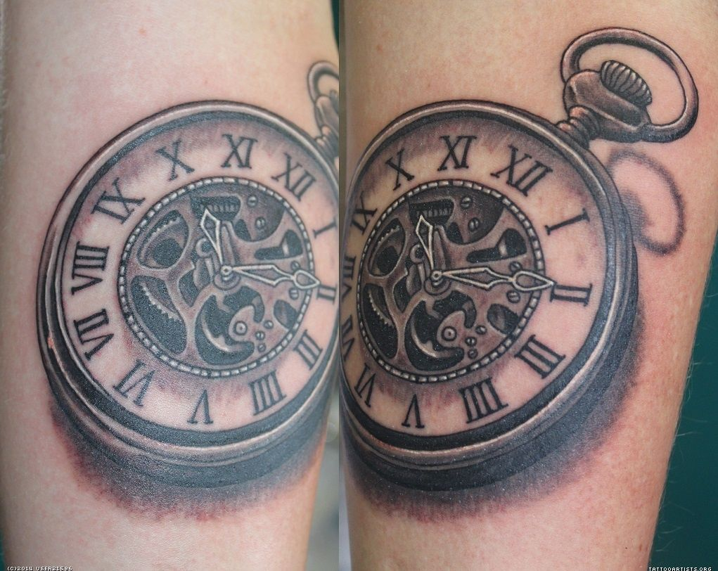 Rose Pocket Watch Tattoo Tattoo Fun Pocket Watch Tattoos