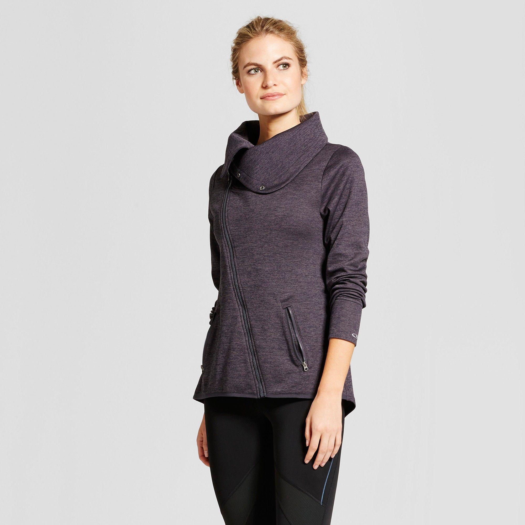 Women's Tech Fleece Asymmetrical Jacket C9 Champion Dark