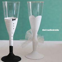 tutorial diy bicchieri sposo e sposa ME creativeinside