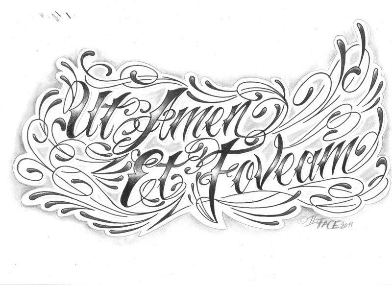 Chicano letter latin tattoo pinterest for Latin tattoo fonts