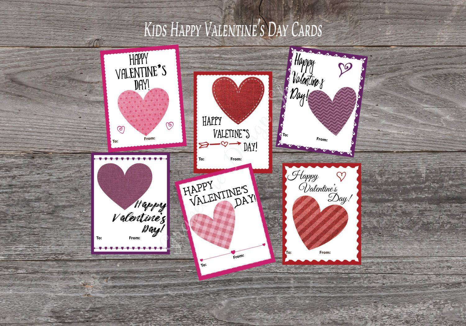 Valentine Cards For Kids Classroom Valentine Printable Etsy Valentines Cards School Valentine Cards Valentine Day Cards