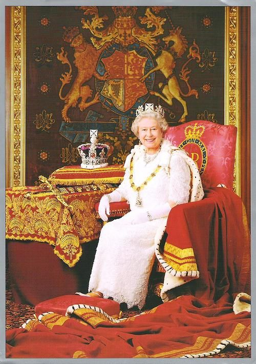HM Elizabeth II Queen of the United Kingdom, Australia, Canada, New Zealand, Papua New Guinea, Solomon Islands, Tuvalu, Belize, the Bahamas, Jamaica, St kitts and Nevis, Antigua and Barbuda, St Lucia, St Vincent and the Grenadines, Barbados, Grenada. One of the greatest monarchs of our time.