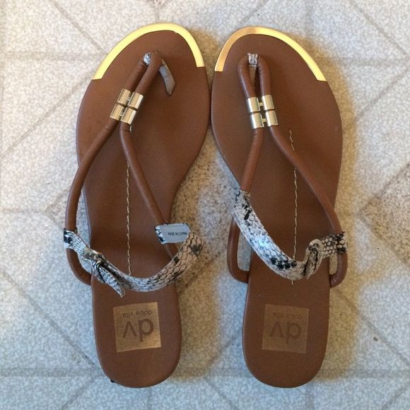 138a20f91 DV Dolce Vita Sandals brown gold snake print DV by Dolce Vita sandals.  adjustable strap around ankle. gently used but in great condition! Dolce  Vita Shoes ...