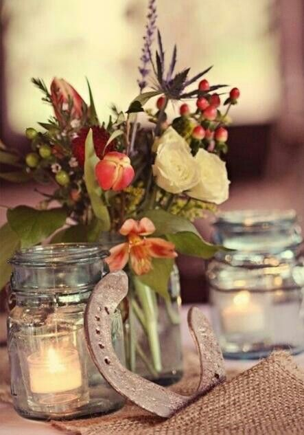 Country Wedding Table Setting Horse Shoe Country Wedding
