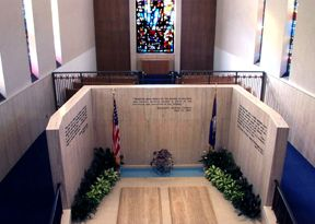 Interior of the Place of Meditation at the Eisenhower Memorial and Library in Abilene, Kansas