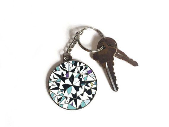 Diamond Enamel Keychain