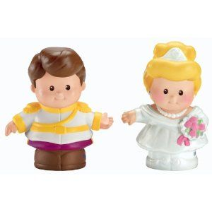 Disney Fisher Price Little People Cinderella and Prince Charming Figures
