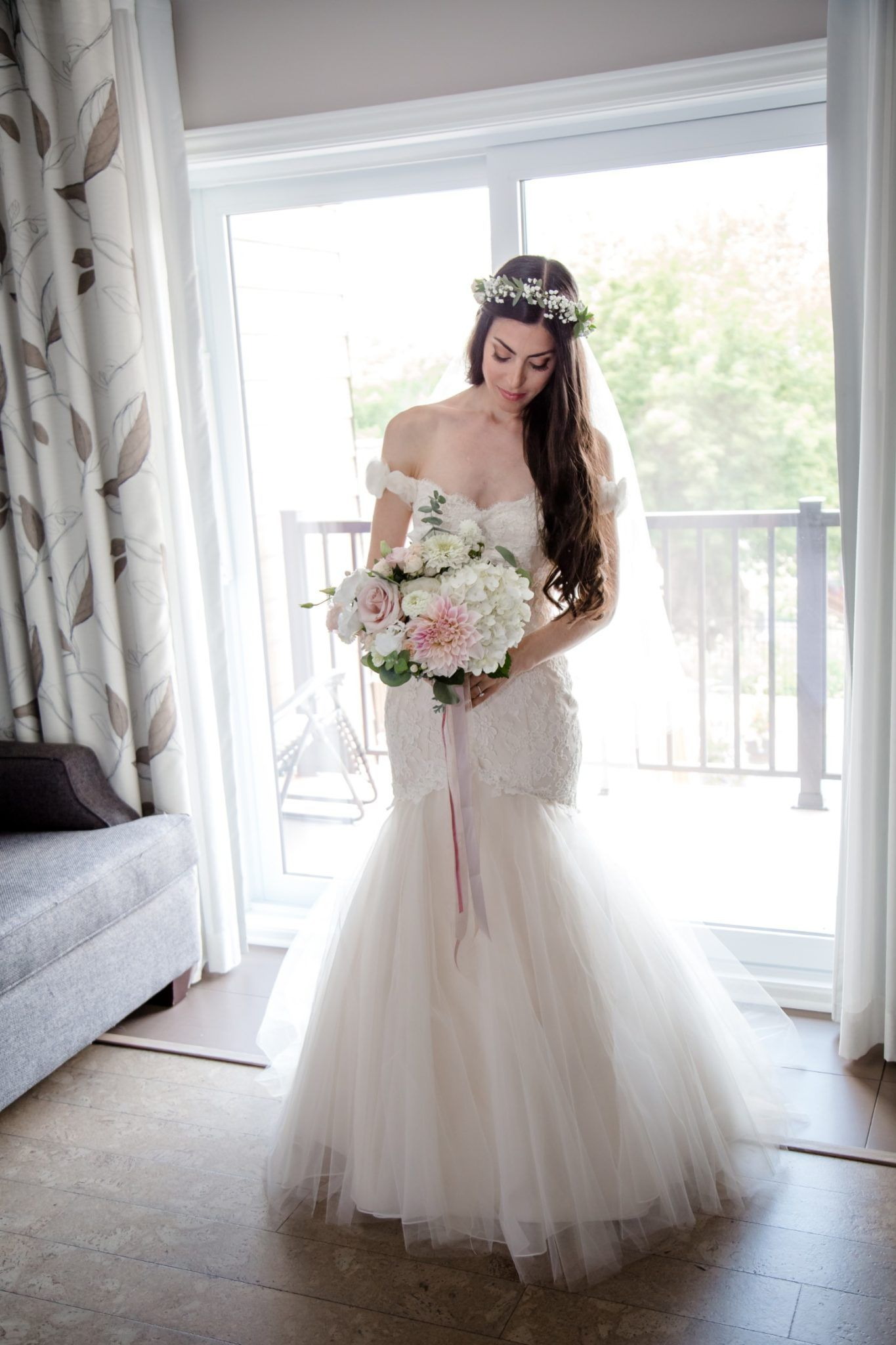 How much to alter wedding dress  Vintage Garden Wedding at Auberge des Gallant  Steph  Jeff  Dress
