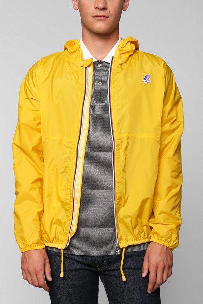 0b8ea4e84 Urban Outfitters Kway Claude Windbreaker Jacket in Yellow for Men