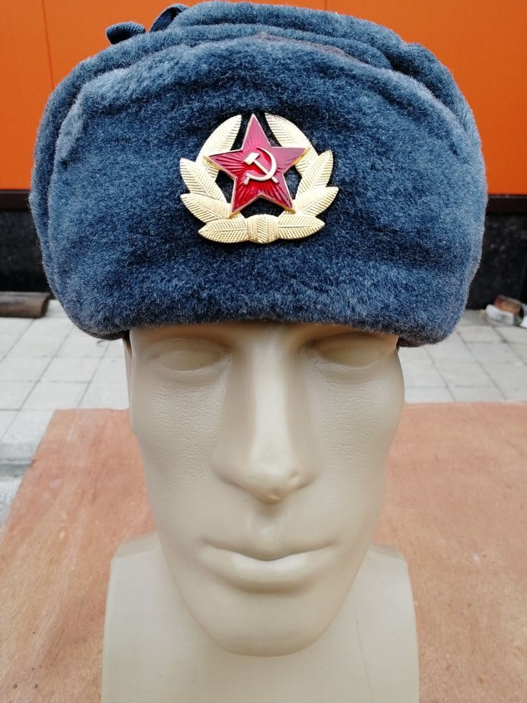 c39bea64f6371 Russian Hat Fur Winter Soviet Ushanka Military with Badge Soldier Cap   SovietArmy  Ushanka