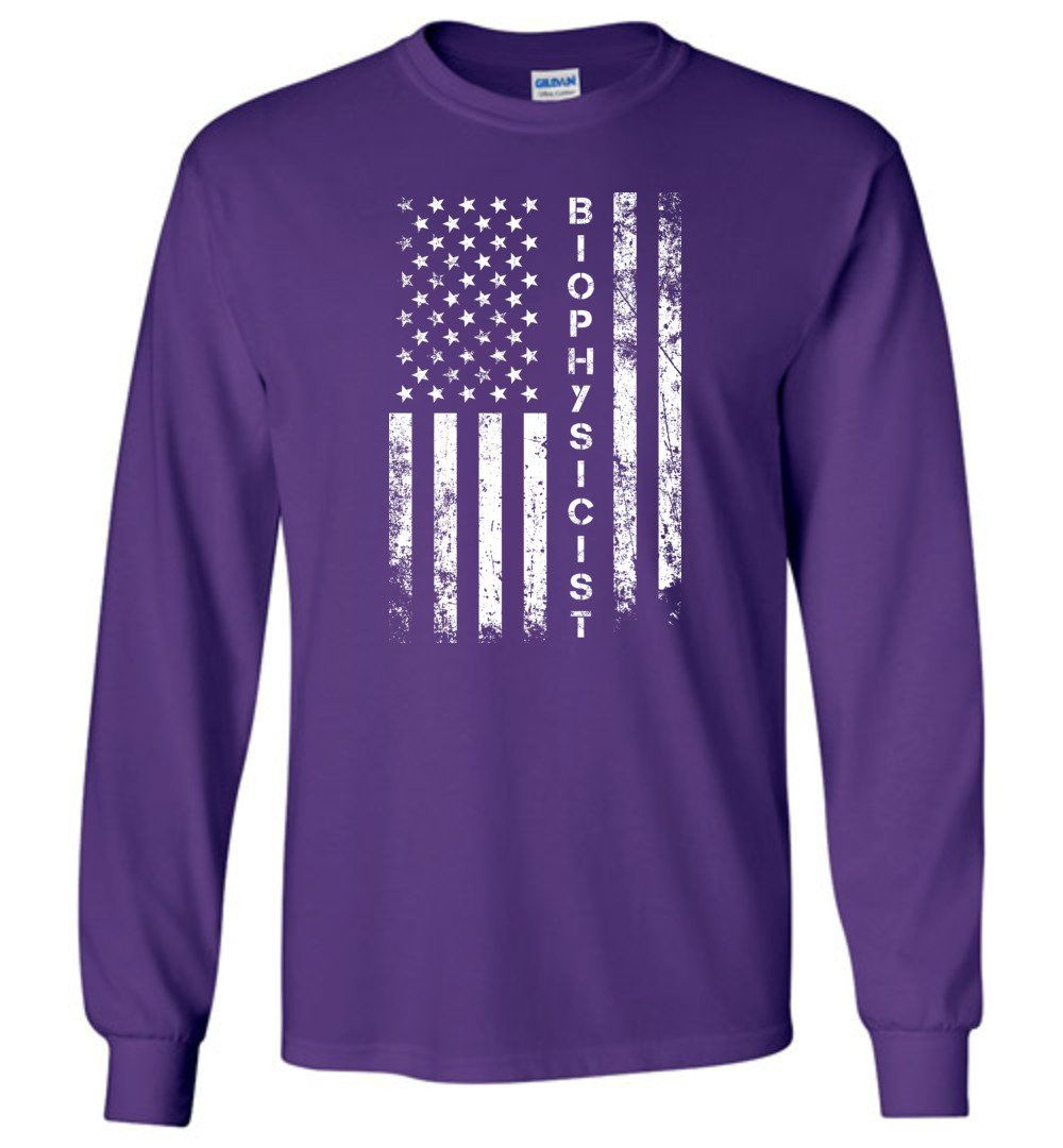 American Flag Biophysicist - Long Sleeve T-Shirt