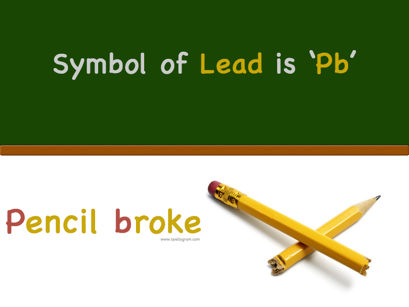 How To Remember The Chemical Symbol Of Lead Is Pb Spellogram Destination For Learning Tricks Mnemonics