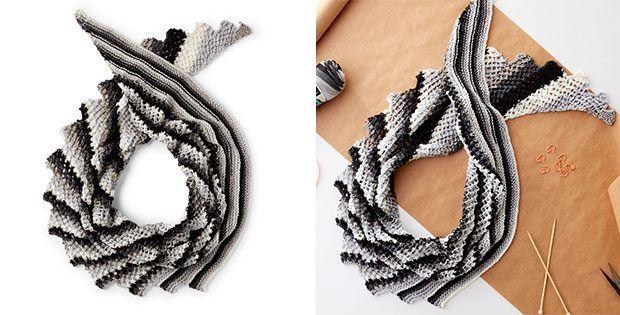 Smart Stripes Knitted Shawl [FREE Knitting Pattern]