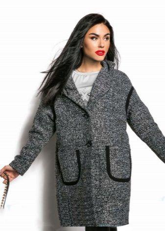 Женское пальто «букле» 2017 (65 фото): из буклированной ...