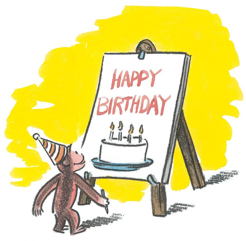 Happy Birthday Curious George A A Pinterest