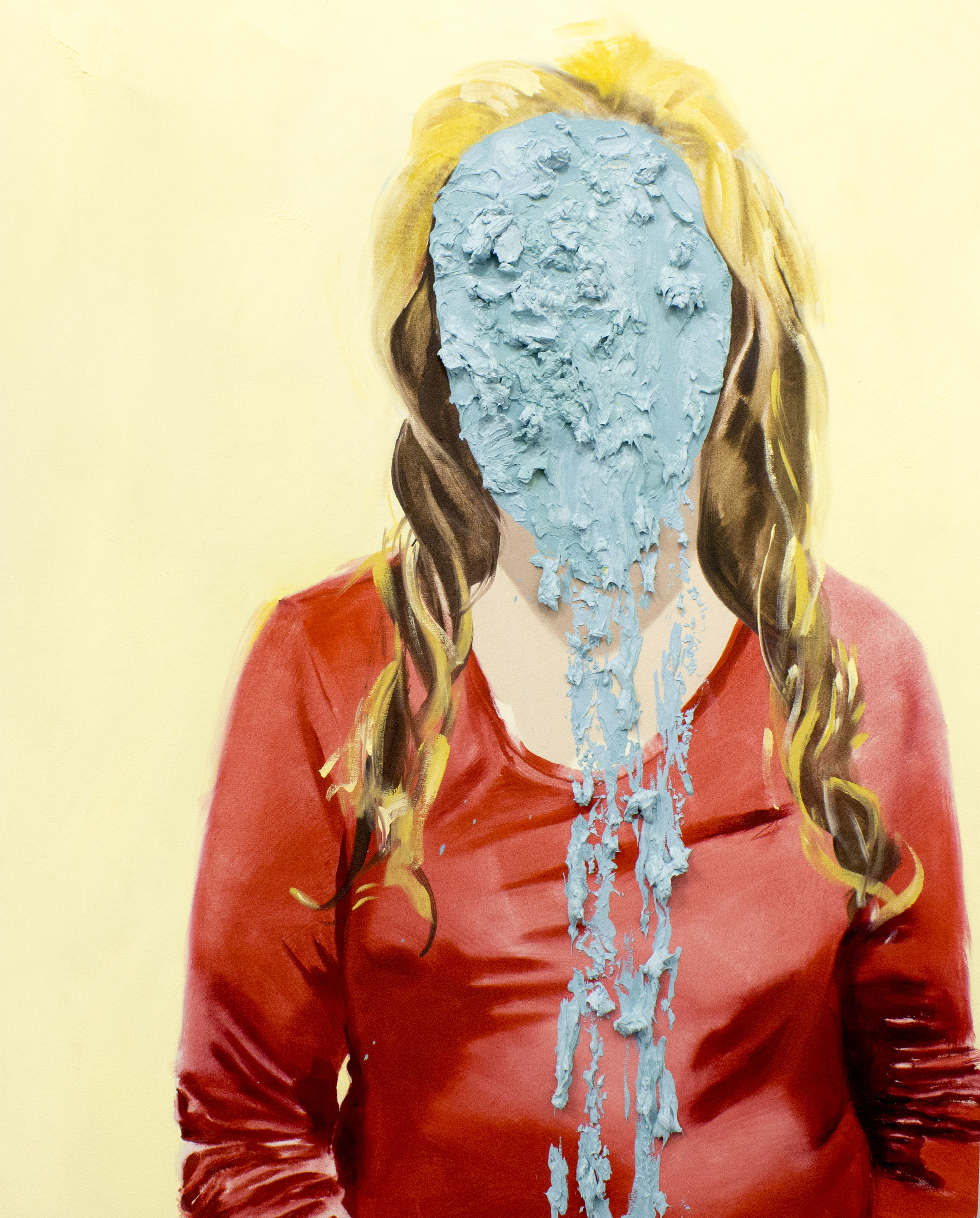 Tanya Poole Water Fall Face From The Becoming Child Series 2013 Kunst