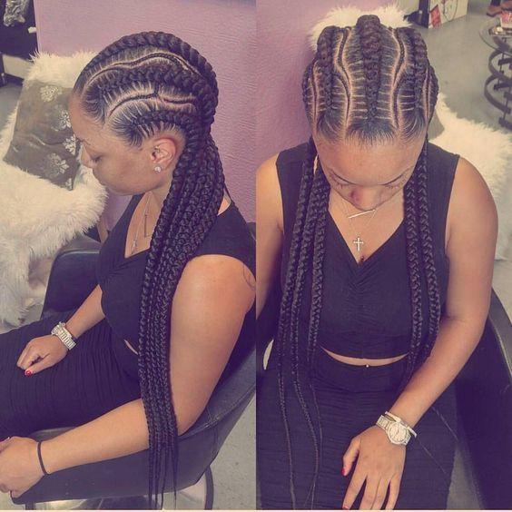 Latest Ghana Weaving All Back 2018 25 Beautiful Ghana Weaving Styles You Should Rock Correc Braided Hairstyles African Braids Hairstyles Cornrow Hairstyles