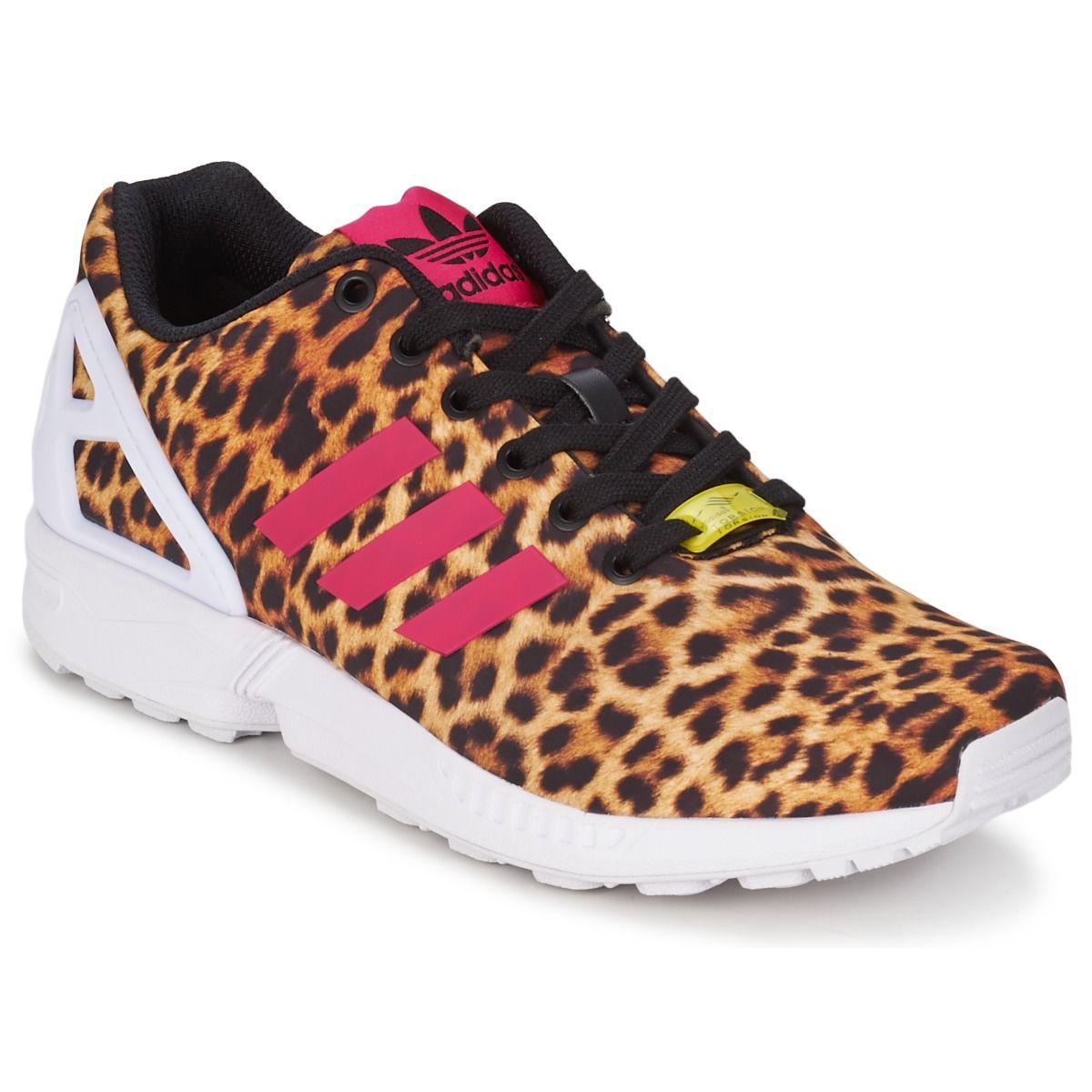 pretty nice 95432 6f98e Baskets basses adidas Originals ZX FLUX W Léopard - achat de chaussures en  ligne, boutique chaussure pas cher sur Shoes.fr ! - Chaussures Femme 89,99 €