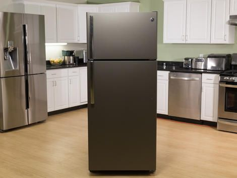 GE Slate Top Freezer Refrigerator GTE18GTHWW