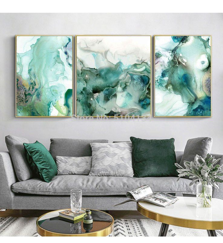 Abstract Big City Buildings 100 Hand Painted Oil Painting On Canvas Handmade Wall Art Pictures For Living Room Home Decor In 2020 Living Room Canvas Art Green Living Room Decor Living Room Canvas