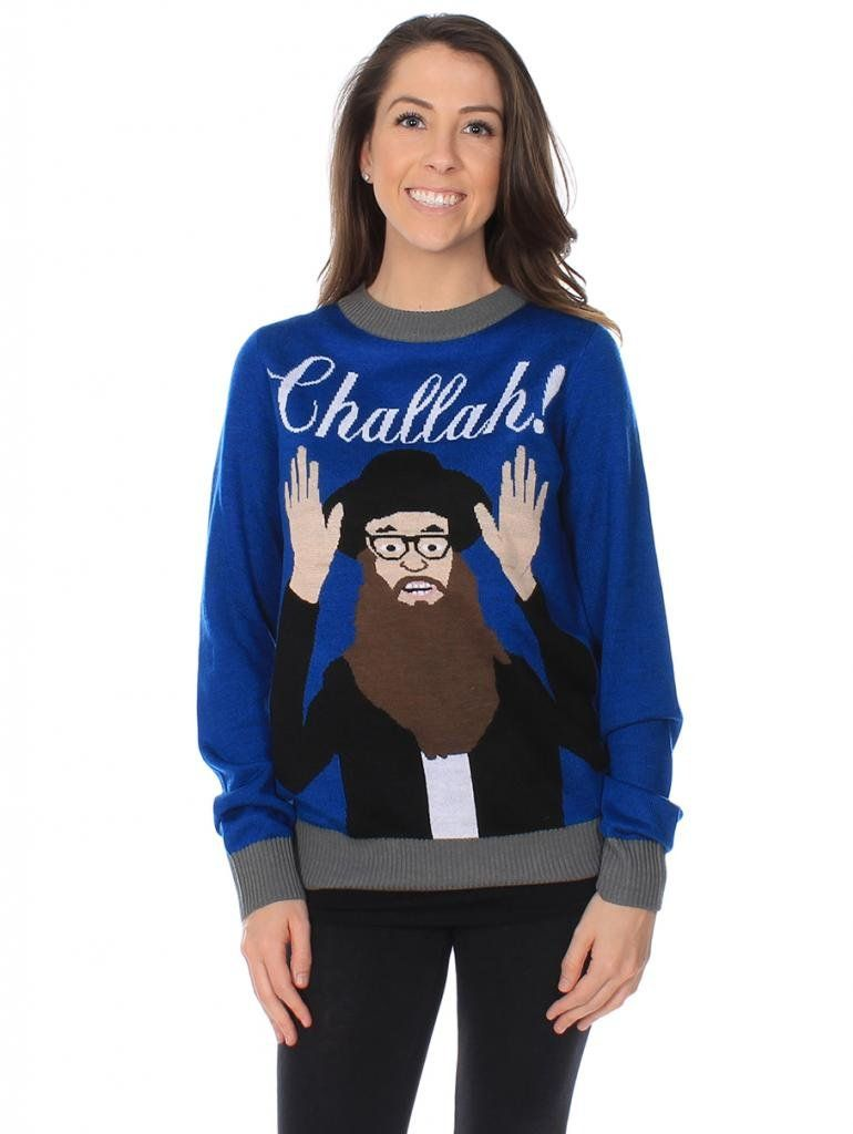 Women\'s Challah! Funny Jewish Sweater Size XS | clothes | Pinterest ...