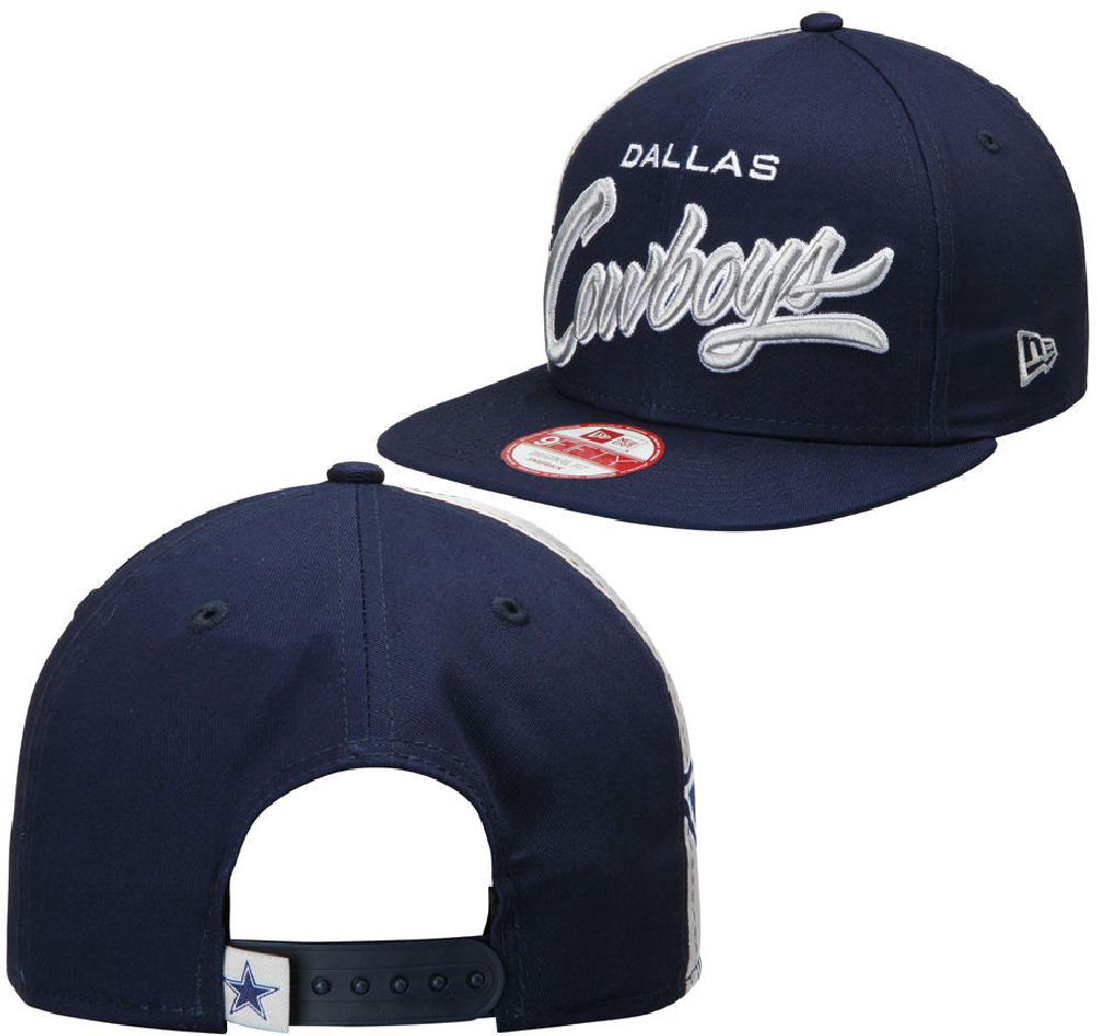 836395da0c8299 Dallas Cowboys Mens Navy Side Smack 9Fifty New Era Adjustable Cap $29.95