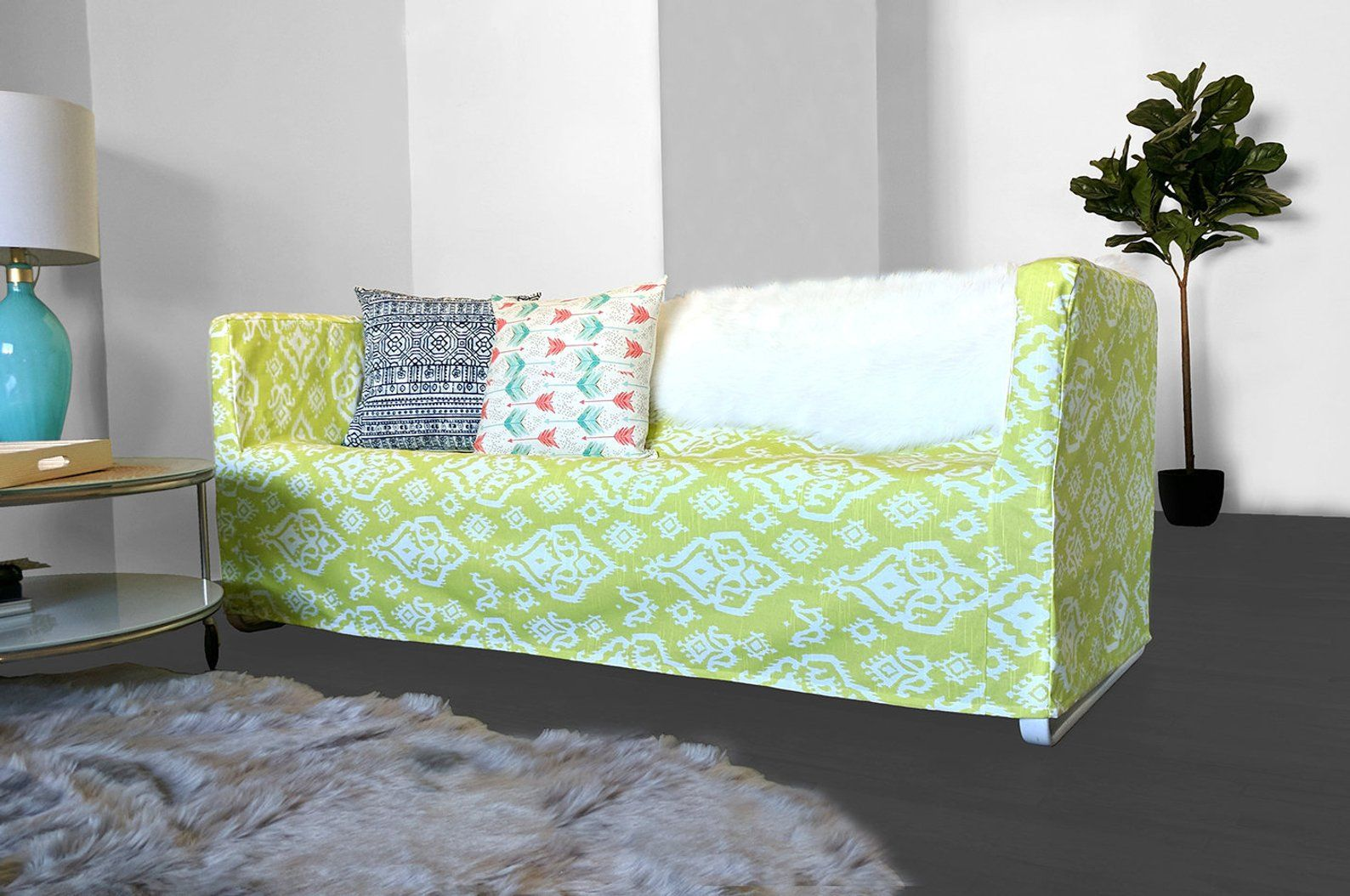 Strange Ikea Couch Cover For Knopparp Lime Green Ikat Print Ikea Bralicious Painted Fabric Chair Ideas Braliciousco