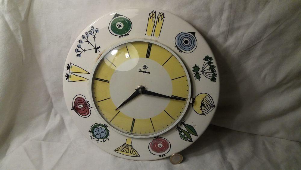Junghans Exacta Wanduhr 50er Jahre Keramik Vintage Kchenuhr